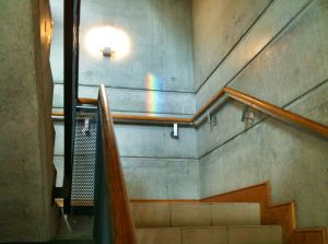 Rainbow in stairwell