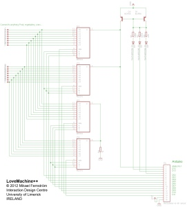 LoveMachine++ interface Schematic Diagram
